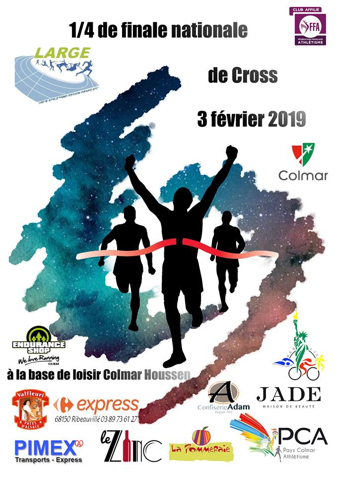 Affiche départementale de cross 2019