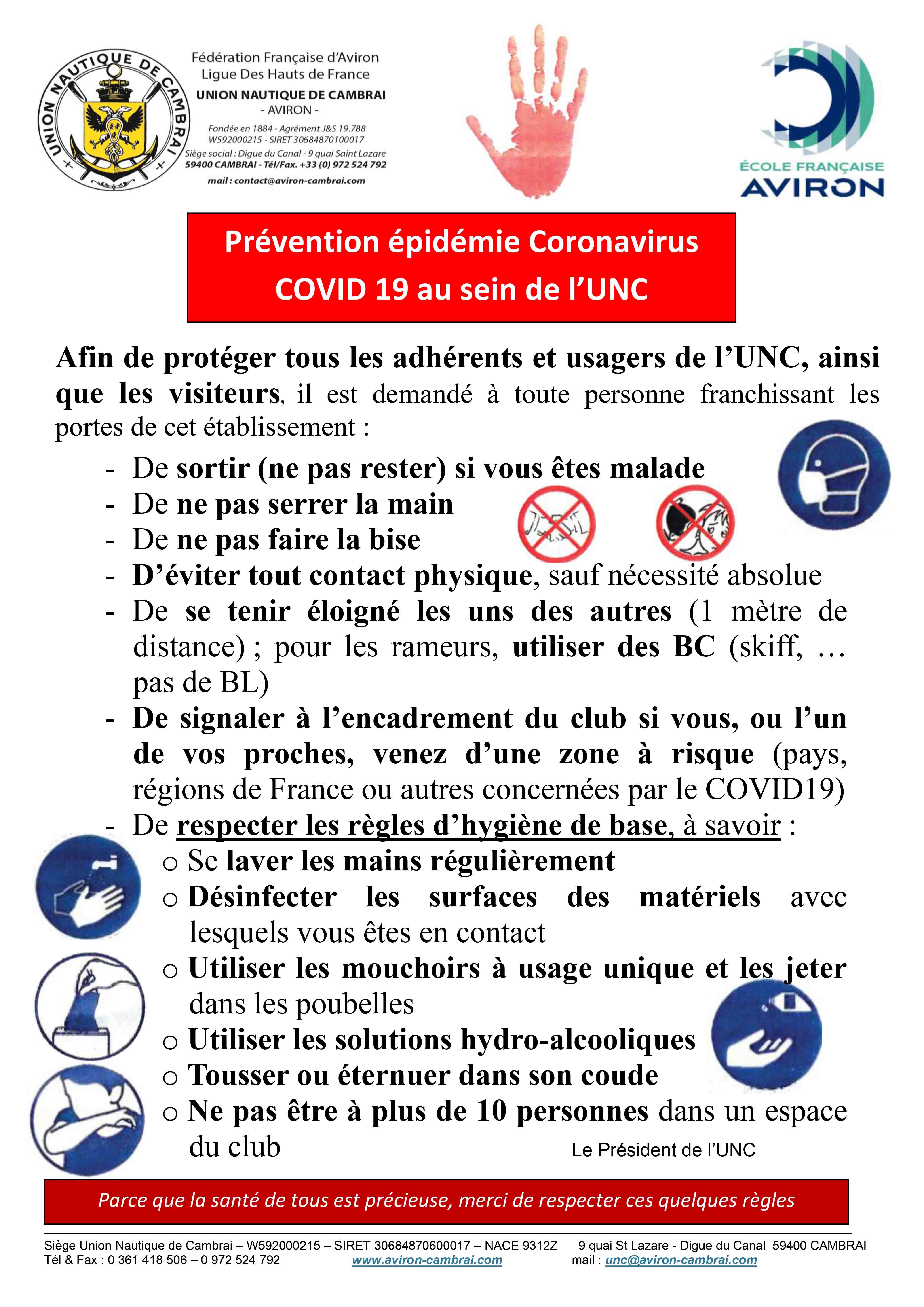 precautions covid 19