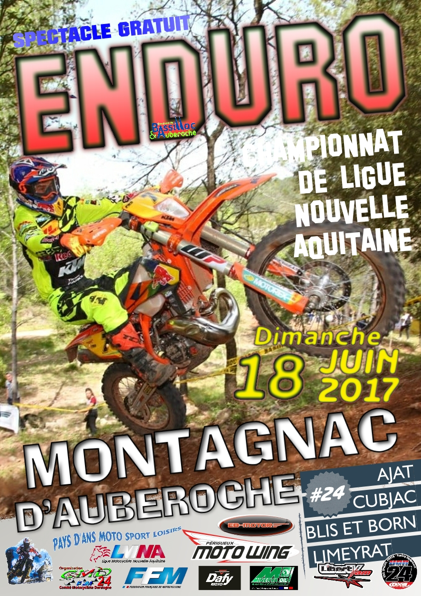 Affiche enduro Montagnac d'Auberoche 2017