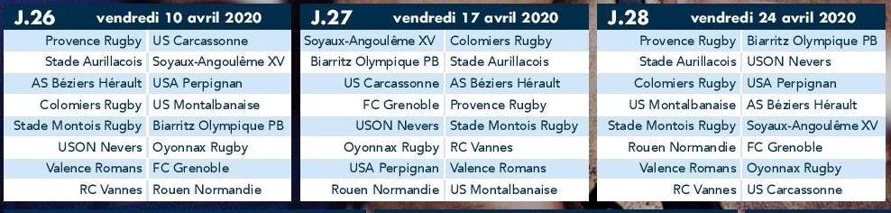Uson Calendrier.Actualite Saison 2019 2020 Calendrier De Prod2